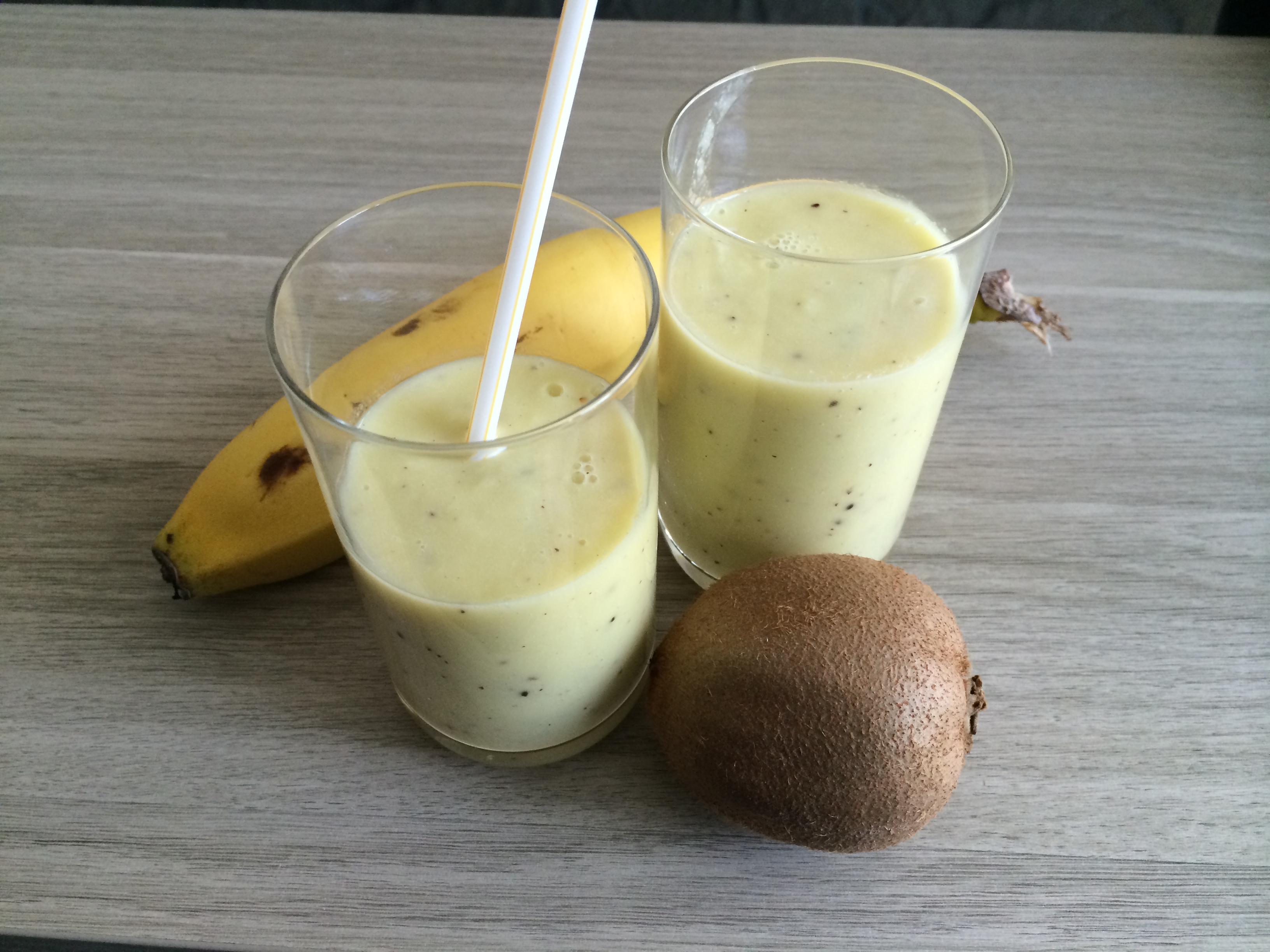 Smoothie banane kiwi