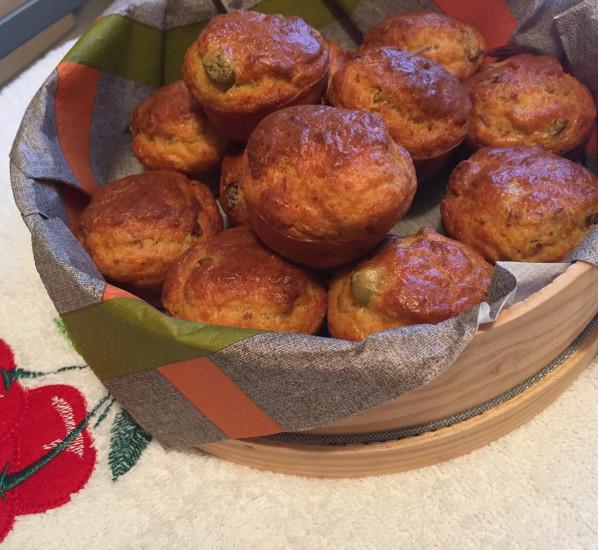 Muffins sardines et tomates séchées