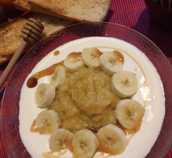 Compote ananas-bananes