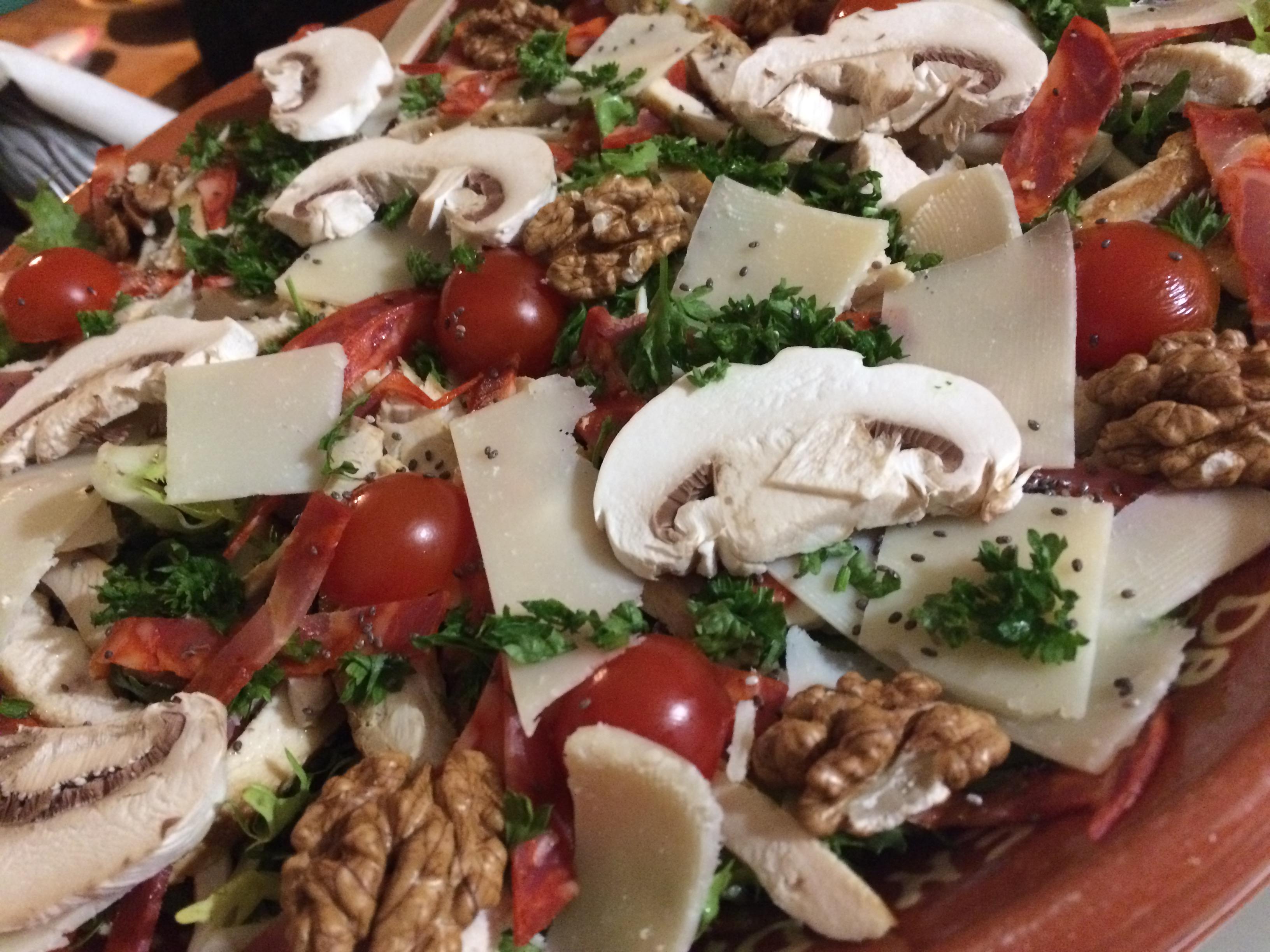 Salade de poulet chorizo et champignons frais amor 39 ing cooking - Salade de champignons frais ...